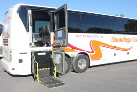 We currently have five ADA wheelchair equipped coaches